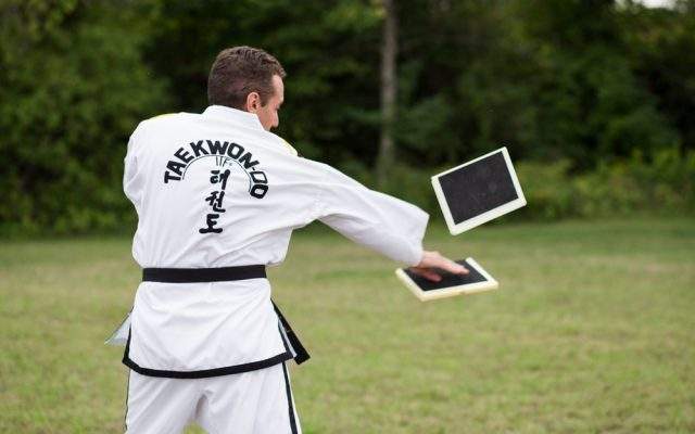 Ottawa Valley Taekwon-Do school offers board breaking in Pembroke, Ontario.