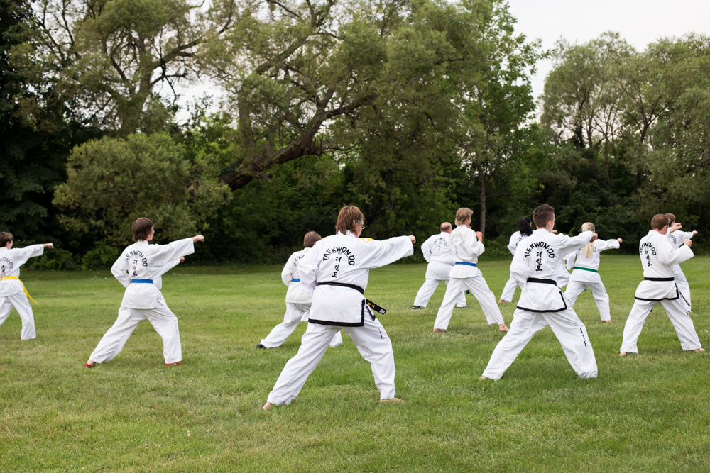 Regular Classes at Ottawa Valley Taekwon-Do school in Pembroke, Ontario.